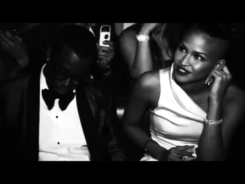 "Stills of @iamdiddy and @cassiesuper from his short film ""Le Premier"" from his trip to Cannes via Ptwitty TV YouTube"