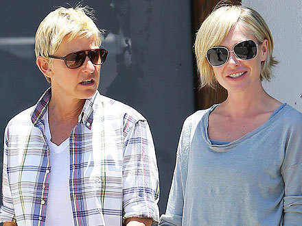 """It's adorable."" - Ellen DeGeneres, on wife Portia de Rossi's new matching haircut, on Bethenny Frankel's new show bethenny"