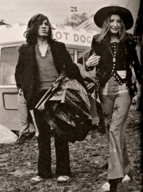 Hippies at the Bardney Pop Festival, 1972.