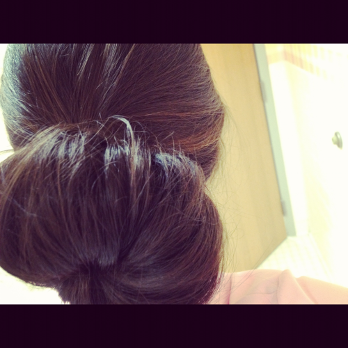 fact: i have too much hair for a sock bun. instagram: smstemp