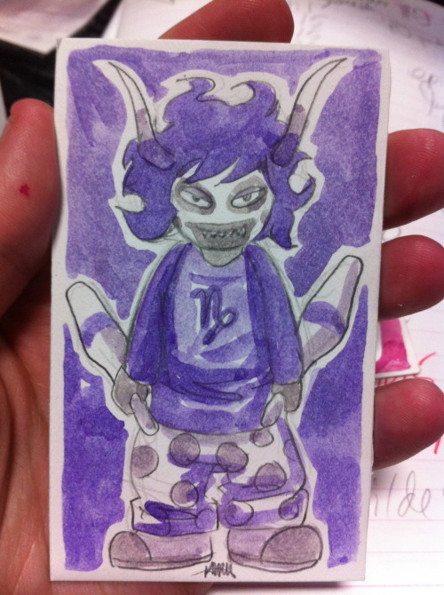 Gamzee sketchcard commission.