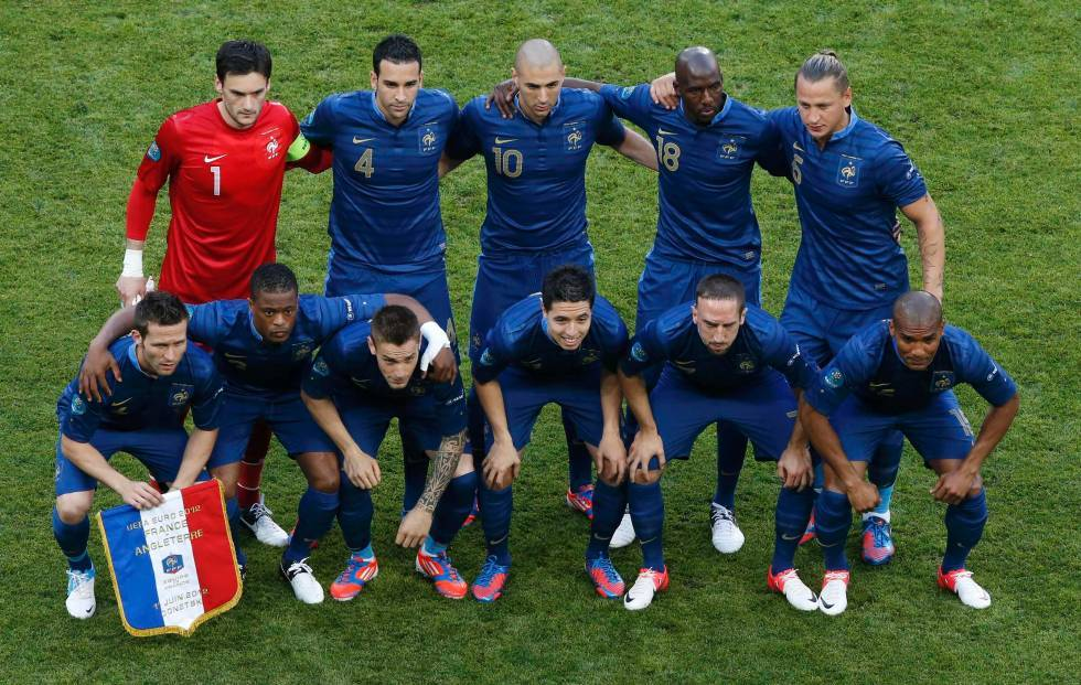 France lineup, Euro 2012 Group D match v England.Source: Blick