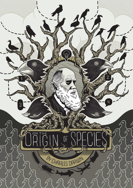"fuckyeahpsychedelics:  ""On The Origin Of Species"" by Alan Kennedy"