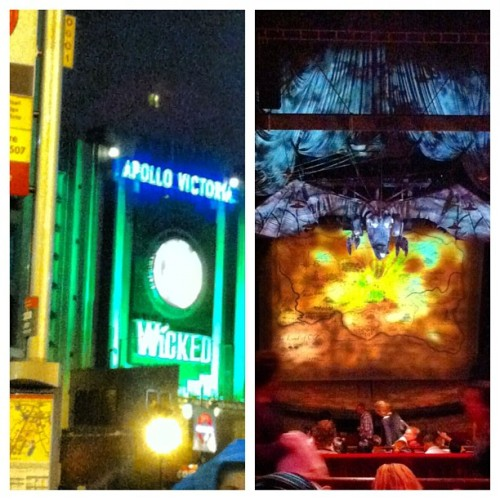"We defied gravity at ""Wicked"" in the West End! @nicolebravo 💚🇬🇧🎬 #London #Wicked #Theatre #WestEnd (Taken with Instagram at Apollo Victoria Theatre)"