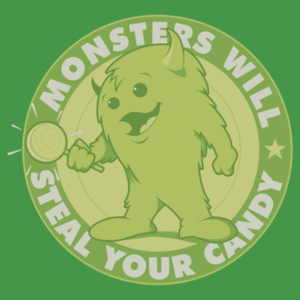 Candy Monster by iceknyght On shirts, kids clothes and stickers.