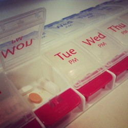 My Monday always includes refilling the pill case. #goodtimes (Taken with Instagram)