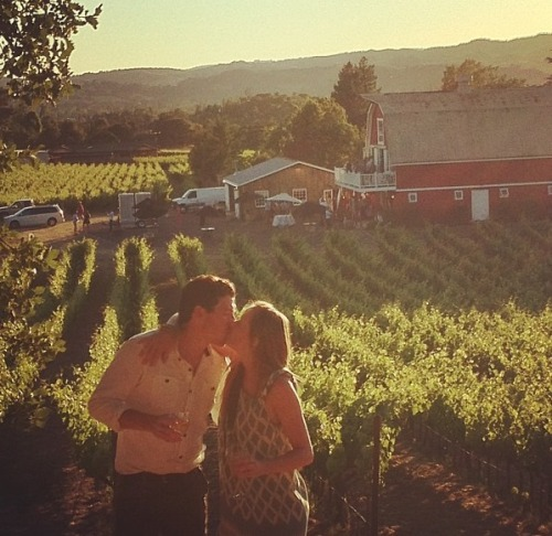 napa is so romantic.  {thanks for the picture mom h}