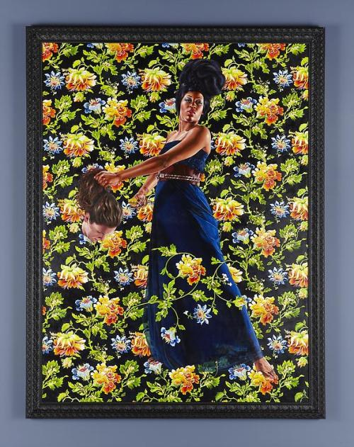 Kehinde Wiley An Economy of Grace Image: Judith and Holofernes, 2012 oil on linen painting: 120 x 90 inches (304.8 x 228.6 cm) framed: 130 1/2 x 99 7/8 inches (331.5 x 253.7 cm) © Kehinde Wiley