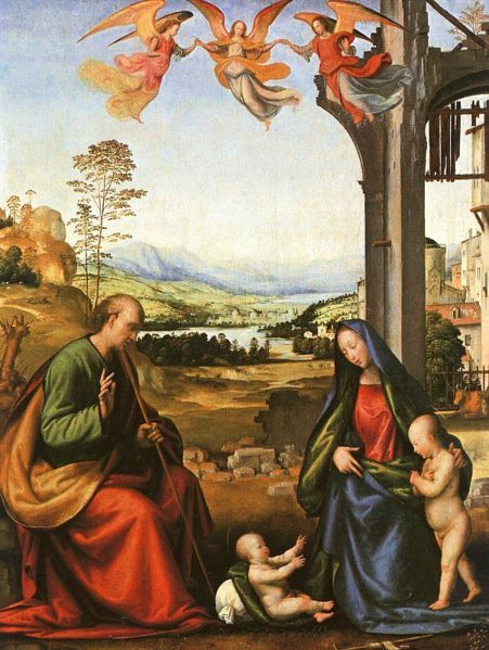 The Holy Family with the Infant St. John By Fra Bartolomeo (1472 – 1517)