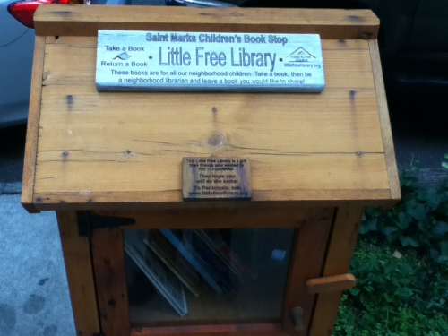Cool little library in Prospect Heights, Brooklyn.