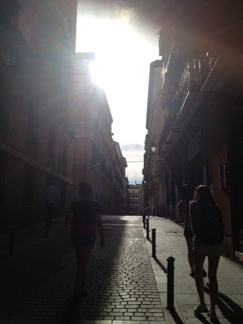 street in Madrid, a beautiful city