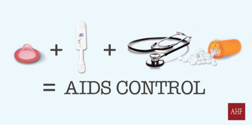 Condoms + HIV Testing + Medical Care = AIDS Control. Do you agree or disagree? www.aidshealth.org