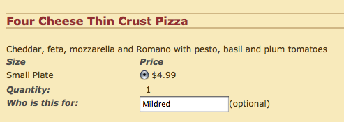 Roisin and I are ordering food and… well…
