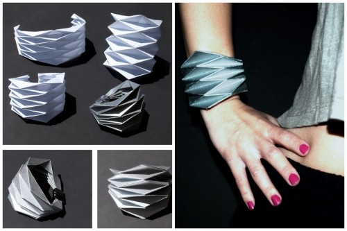 truebluemeandyou:  DIY Origmai Paper Cuff with Template. If you read this blog you know I'm not very good at origami, but this bracelet and template from Concreate look like something I could actually do.