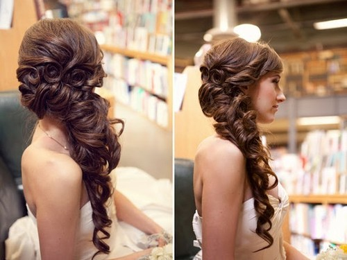 A beautiful side updo.