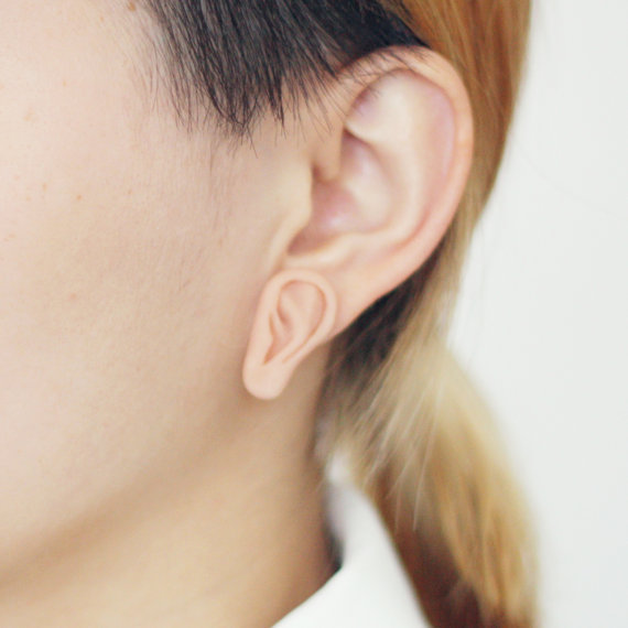Little Third Ear - handmade earrings by percylau · $41.50