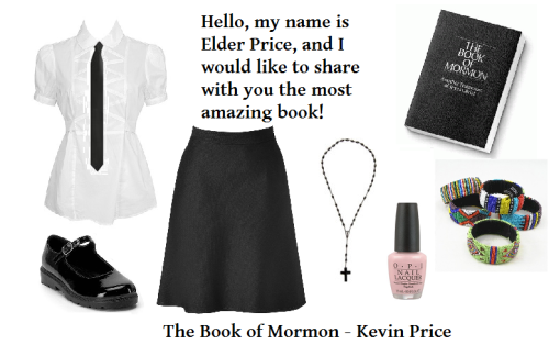 Outfits inspired by Broadway #2 - Kevin Price (The Book of Mormon) Submit your ideas for more outfits here