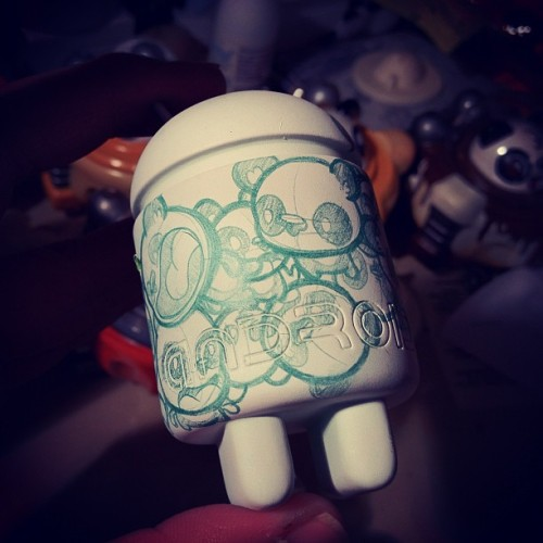 Android doodles :) #sdcc #dragatomi #everynightartdorks  (Taken with Instagram)
