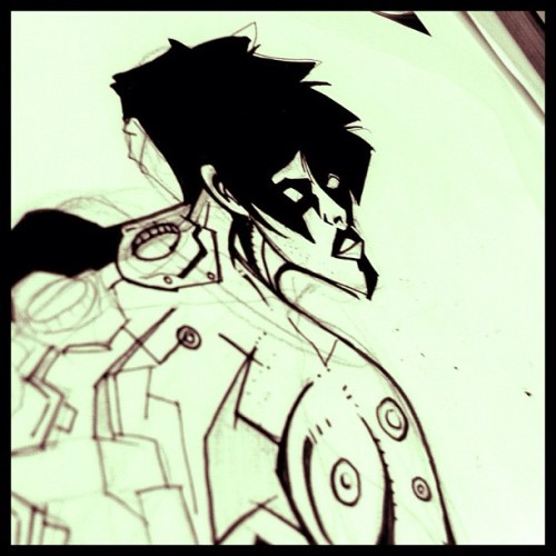 Ink over the cyborg #sketch #ink (Tomada con Instagram)