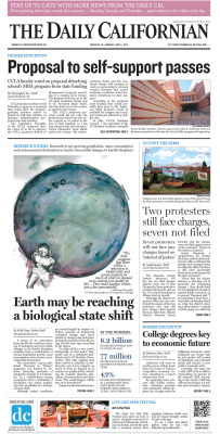 Front page for Monday, June 11, 2012 Layout Design: Chris Chau/Staff Illustrator: Aleli Balaguer/Staff Read more at dailycal.org