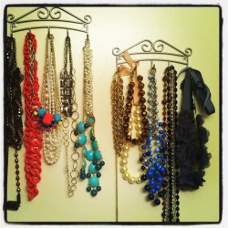 Finally my necklaces have an organized home. #handywoman (Taken with Instagram)