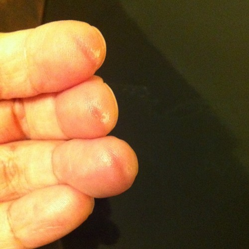 The cost… Sore fingertips. #VioletSky #photos  (Taken with Instagram)