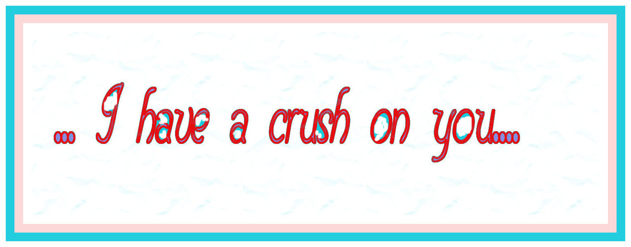 I have a crush on you….