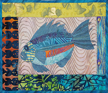 jbe200quilts:  Fantasy Fish by Bridget O'Connor
