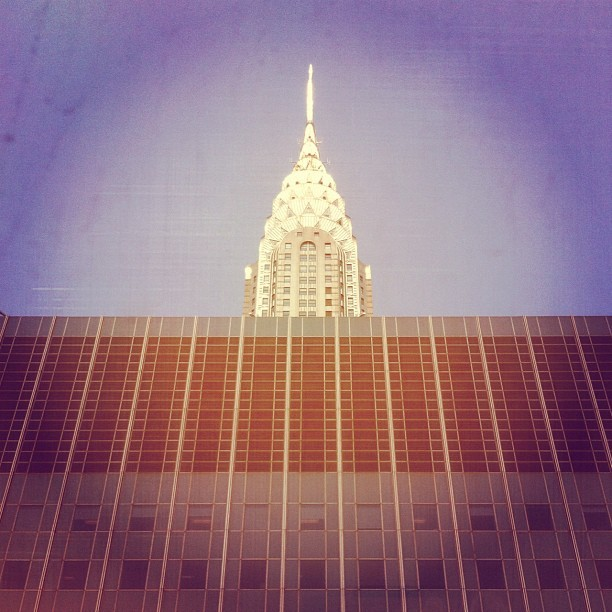 chrysler peeks out. #nyc  (Taken with Instagram)