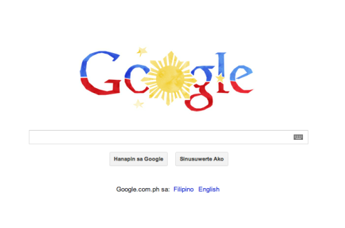 The Google Doodle in the Philippines has a tribute to the 114th Independence Day of the Philippines.