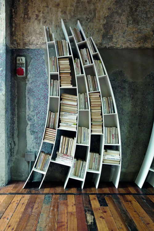 Primo Quarto, functional and sculptural bookshelf by Giuseppe Vigano