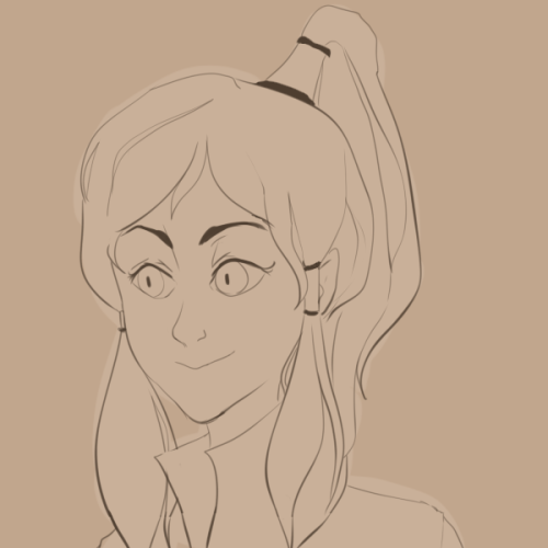 ipoog:  quick korra sketch before my mom kicks me off the laptop