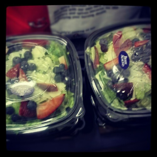 Another picture of the salads I made. #beautiful #salad #wendys #work #florida #okeechobee  (Taken with Instagram)