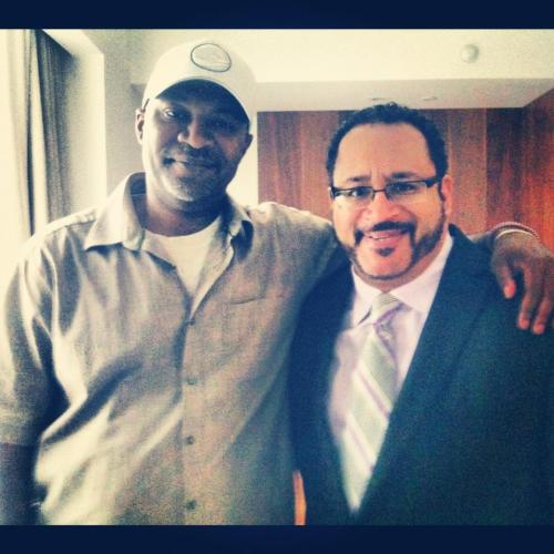 Chillin' with the verbal brilliance that is Michael Eric Dyson after an on camera interview about the various ways funk reflects our desire for liberation, freedom, freakiness and love of ensemble music making.