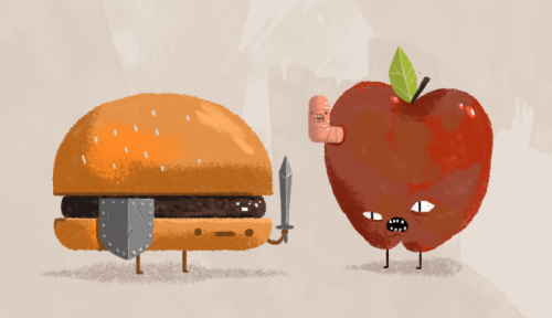 burger knight encounters a rotten apple