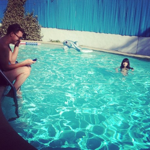 pool time with @xosarsdad (Taken with Instagram)