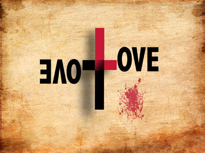 Love is written by the Cross.
