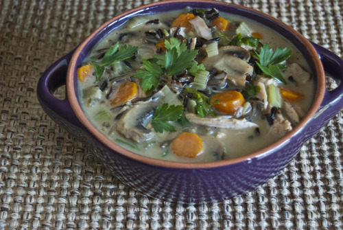 Cream of Turkey and Wild Rice Soup Source: @EatingWell June also happens to be National Turkey Lover's Month for some reason, but I'm not complaining. In fact, my hometown neighbors the base city to Jennie-O Turkey Store.
