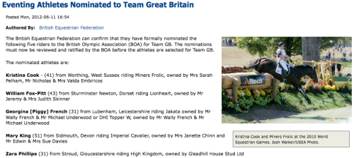 fuckyeahhorsesports:  Great Britain Eventing Team Shortlist