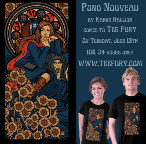 karenhallion:  Today on Tee Fury…Amy Pond Nouveau! www.teefury.com   Whut.