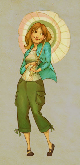 gaminginyourunderwear:  Adorable Art That Makes Me Squee: Kaylee from Firefly by ~kelleybean86
