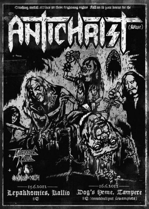 apatheia8273:  Finally this Friday the Swedish Militia of Death ANTICHRIST playing in Lepis, Kallio, Helsinki. Considering as well, all the trip to Tampere for a second assault.   I think you should!