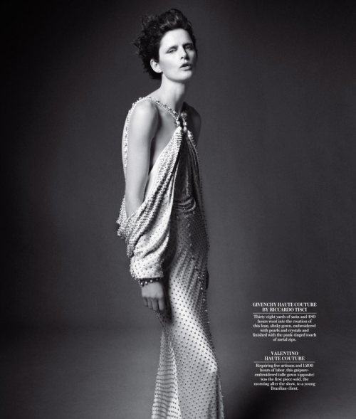 edgeofacataclysm:  Stella Tennant by Daniel Jackson / WSJ Magazine / Wearing Givenchy Couture