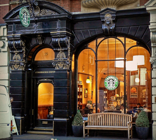 Starbucks, Leicester Square, London England photo via besttravelphotos