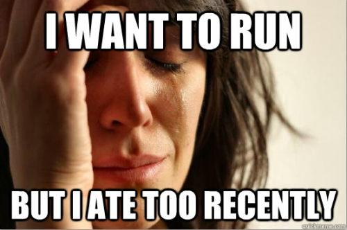 fyeahrunning:  first world runner problems