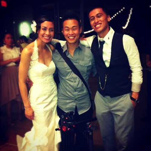 "Qui Truong Instagram Update  ""@kanauru got to film the wedding with @ittastebest ! But this is the most awesome wedding I've been too! @keonemadrid and @marrrrriel love for each other is indescribable! #jealous #tears #happiness"""