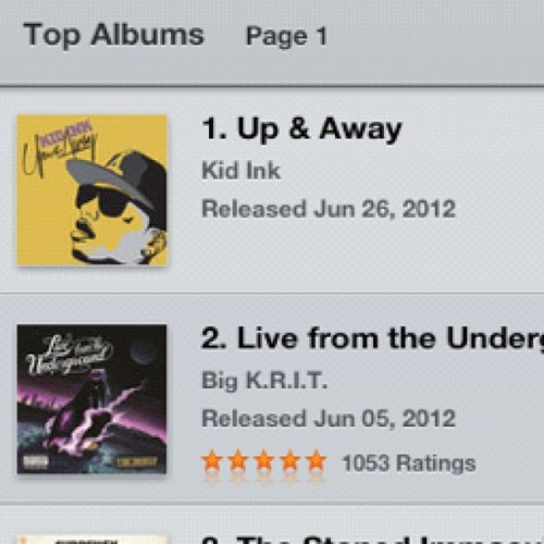 """Up & Away"" OUT NOW!!! #1 Hip-Hop Album on iTunes!!!!!! http://itunes.apple.com/us/album/up-away/id529381655"