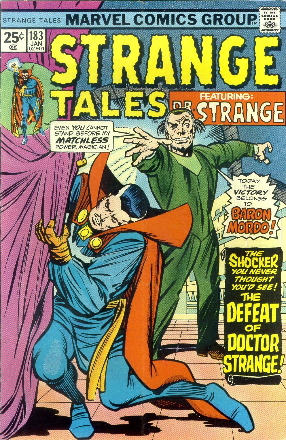 comicbookcovers:  Strange Tales #183, Janury 1976, cover by Jack Kirby and Chic Stone  One I still own.