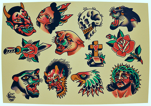 just finished this sheet of designs to be tattooed at westside flash day this saturday. come and get a tattoo, or say hello if you are in brisbane!
