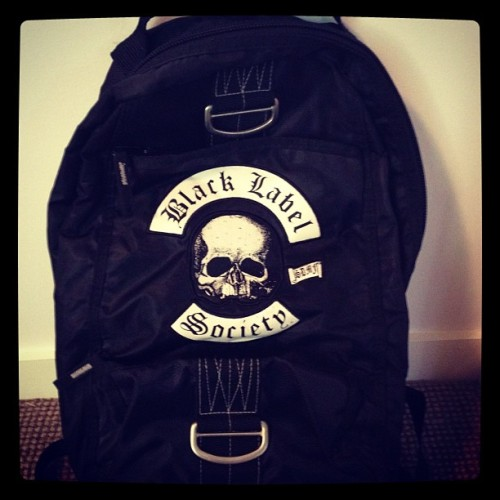 Day 66 -Black Label Society Backpack. #fullmetalmerch #BlackLabelSociety #SDMF #Metal  (Taken with Instagram)